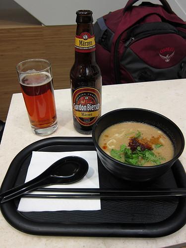 dandan noodles and beer