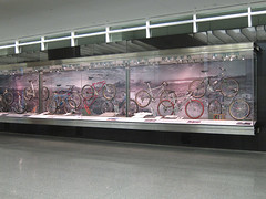 bicycle exhibit at SFO