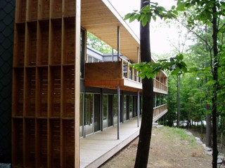 modern green prefab, architecture by Kohn Shnier Architects for Royal Homes (by and courtesy of Lloyd Alter)