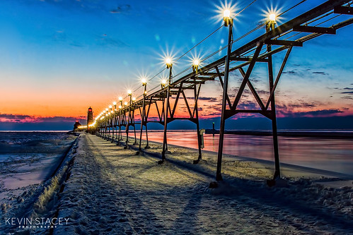 sunset sky night clouds photography michigan photograph bluehour catwalk grandhaven