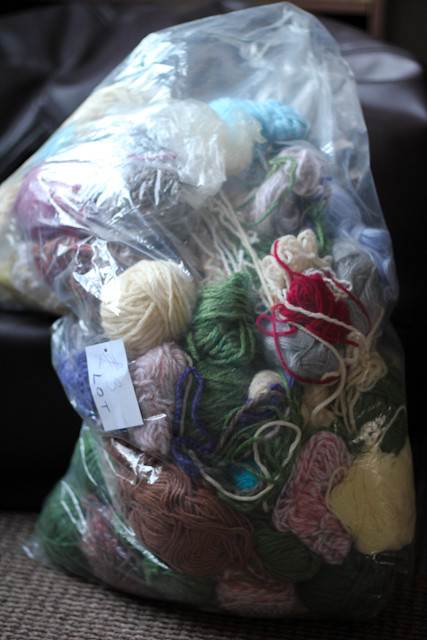 yarn from a charity shop