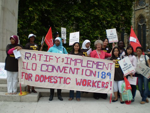 Margaret Healy SSL during the Campaign for Domestic Workers in England