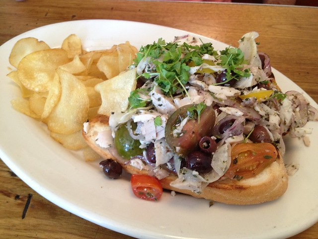 Olive oil poached tuna sandwich - King's Highway