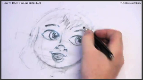 learn how to draw a young girls face 016