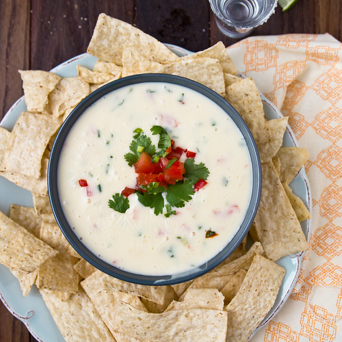 Chile con queso with Tequila