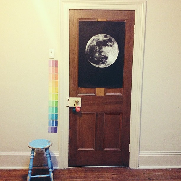 Got this big print made of a hi-res photo of the moon for $5 - pretty pleased with it #babyjagoenursery