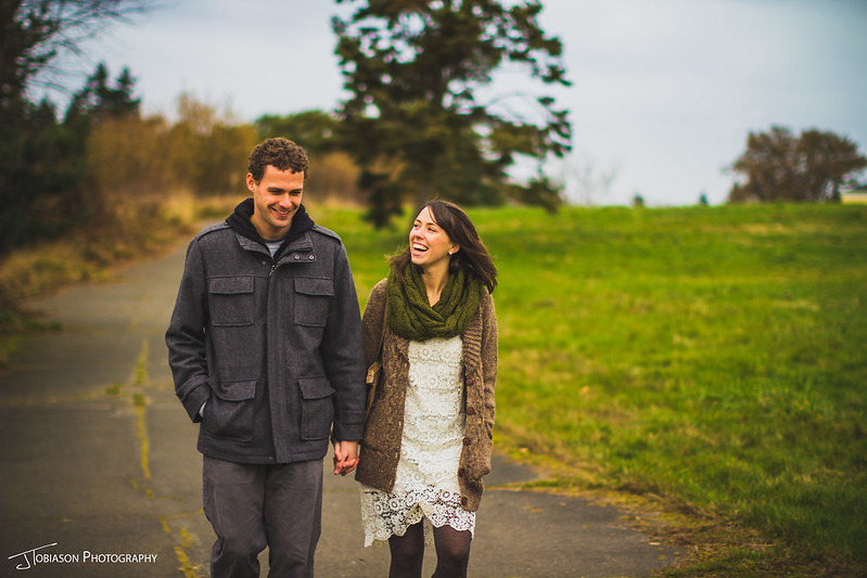 Laughing and Walking | JTobiason Photography | Seattle Wedding Photographer
