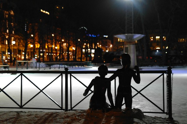 The Ice Rink in Oslo Sentrum on Karl Johan's Gate