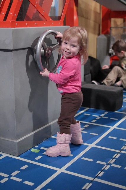 Lucy at the Children's Museum Rochester for Breakfast with Curious George
