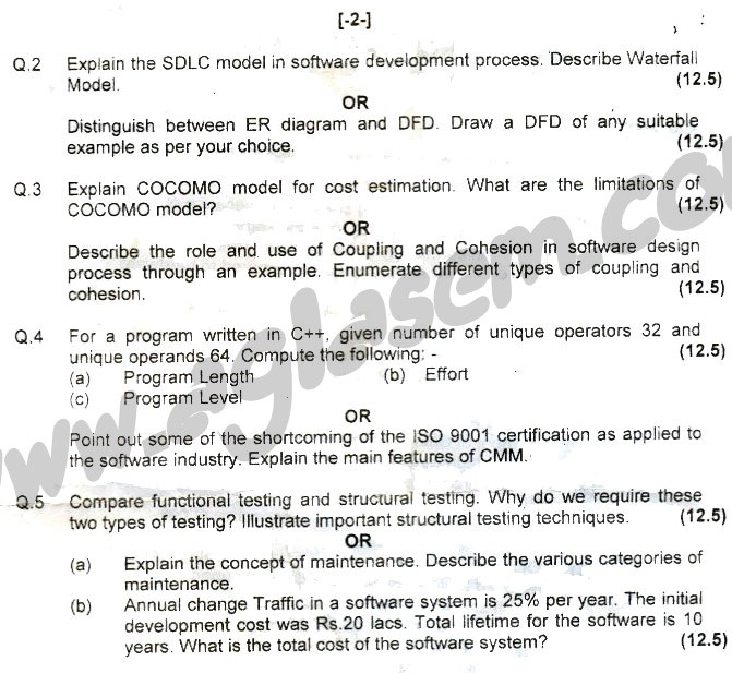 GGSIPU Question Papers Fourth Semester – end Term 2008 – ETCS_202
