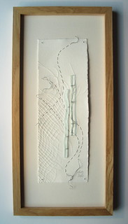 Edges: embossed paper, glass, stitch