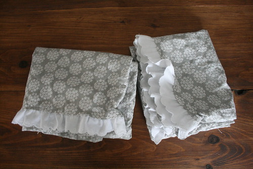 Homemade Ruffled Pillowcases