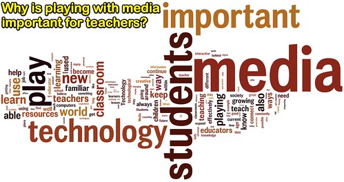 Why is playing with media important for teachers?