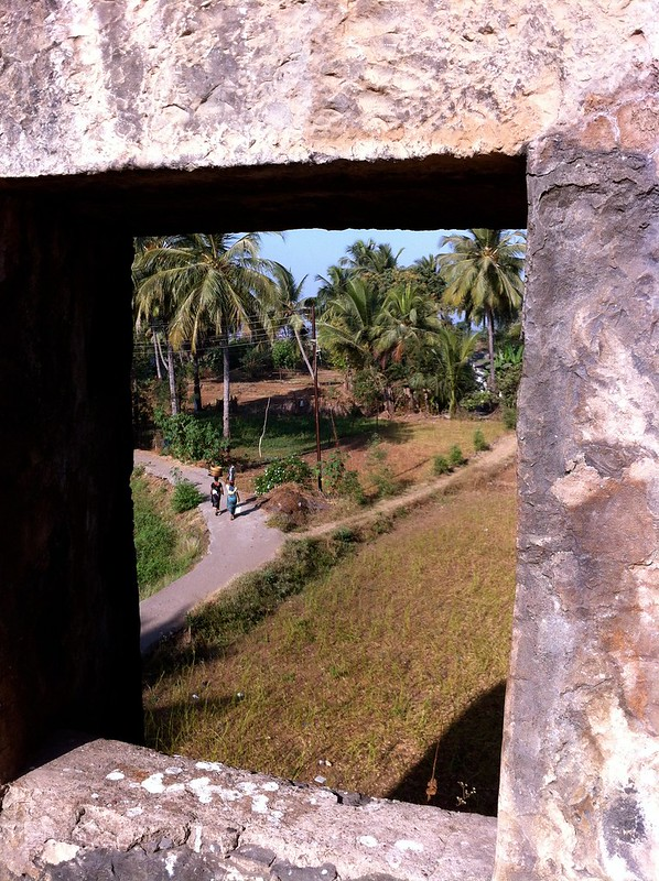 View of villagers homes from Arnala fort