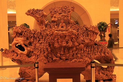 Wood Carving at Fo Guang Shan Buddhist Monastery