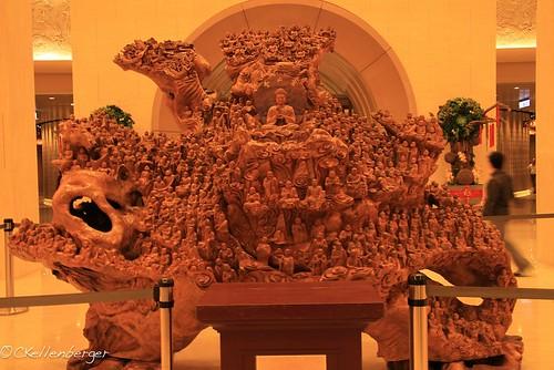 Wood Carving at Fo Guang Shan Buddhist Monastery