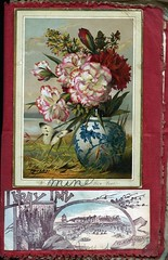 tapestry(0.0), textile(0.0), needlework(0.0), embroidery(0.0), cross-stitch(0.0), art(1.0), flower(1.0), picture frame(1.0), painting(1.0),