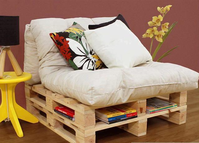 Decoração e Reciclagem: Sofá de paletes