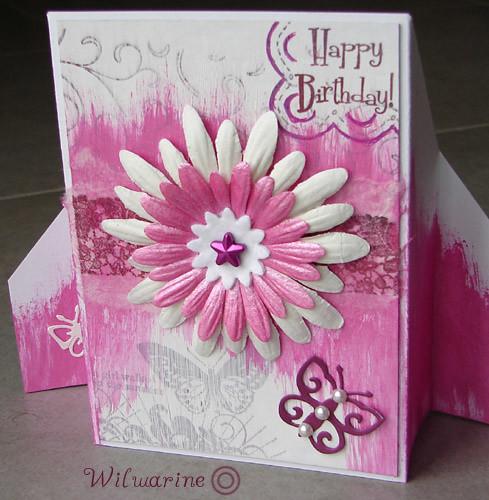 carte anniversaire free style