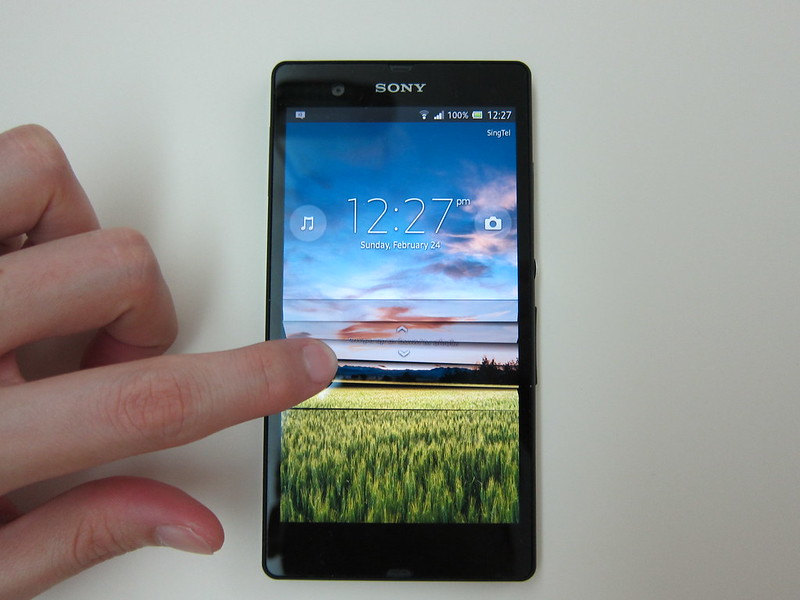 Sony Xperia Z - Unlocking Lock Screen
