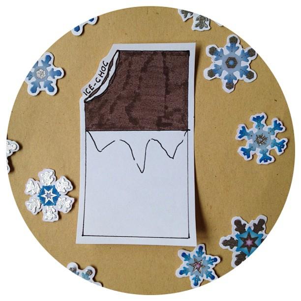 Created some ice-cream related address labels for #elevatedenvelope exchange #icechoc #chocice #icecream #chocolate