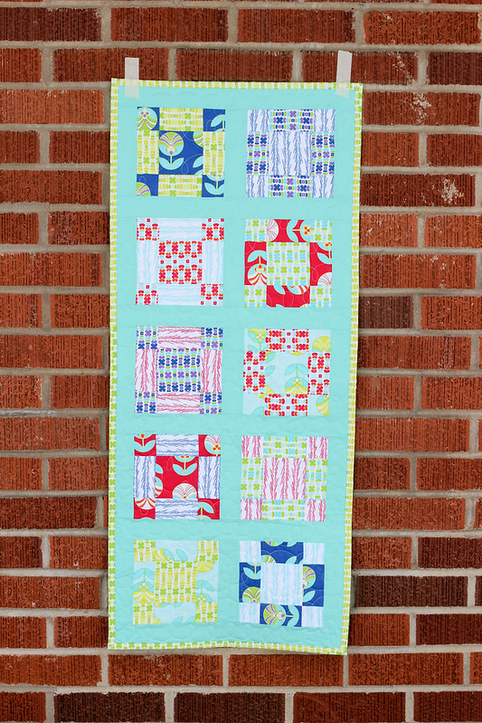 Color Me Retro Vintage Nine-Patch Table Runner