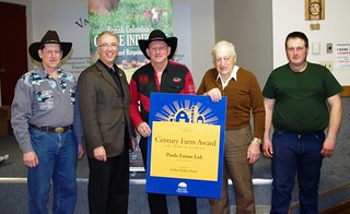 Poole Family received Century Farm Award