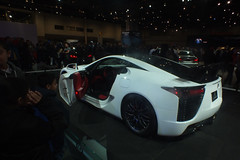 automobile, exhibition, wheel, vehicle, lexus lfa, performance car, automotive design, lexus, auto show, land vehicle, coupã©, supercar, sports car,