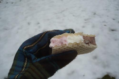 ice cream and snow