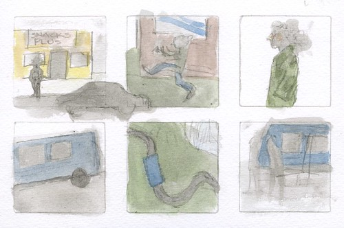 a vague storyboard for an animation by Bricoleur's Daughter