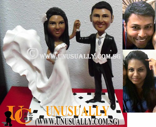 Personalized 3D Lovely Classic Wedding Couple Figurines - @www.unusually.com.sg