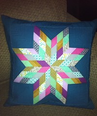 Scrappy Lone Star pillow