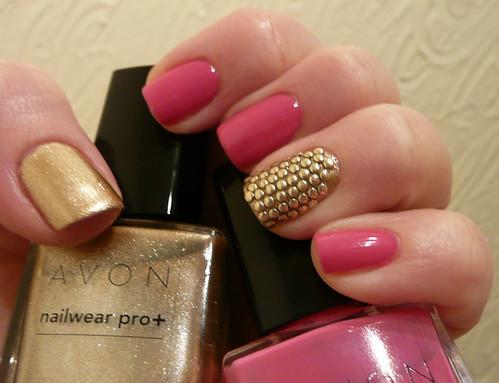 avon pink gold + studs 1