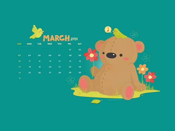 March 2013 desktop/iPhone/Galaxy SIII lock screen wallpaper :)