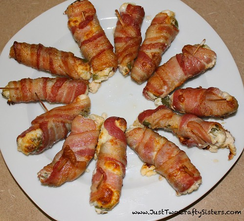Bacon wrapped jalapeno poppers, so good!