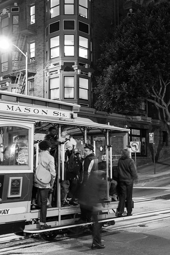 San Francisco cable car nigthtime activity - #59/365 by PJMixer