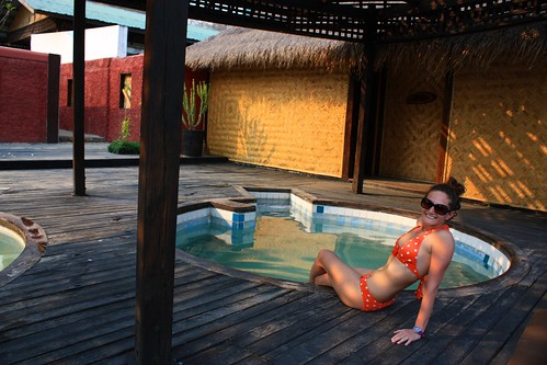Hot springs at Inle Lake. A great stop on our bike ride