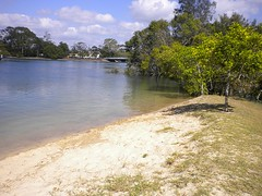 Noosa Heads River near Lions Park. Time photo taken is approximate