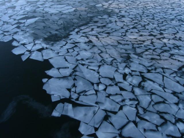 Лед на Москве-реке