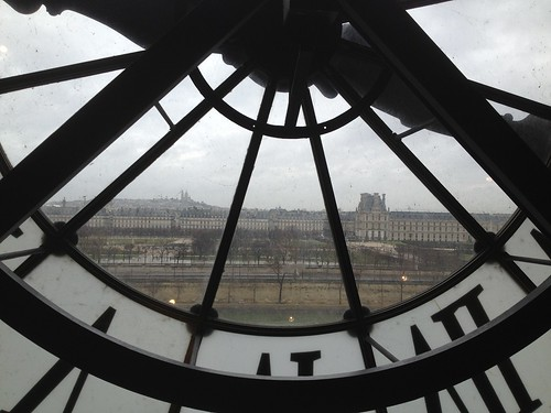 Sacre Coeur and the Louvre from the Musee d'Orsay