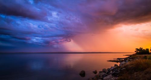 [フリー画像素材] 自然風景, 海, ビーチ・海岸, 朝焼け・夕焼け, 暗雲, 嵐, 風景 - オーストリア ID:201303140400