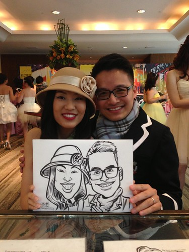 caricature live sketching for Recruit Express Dinner & Dance 2013 - 3