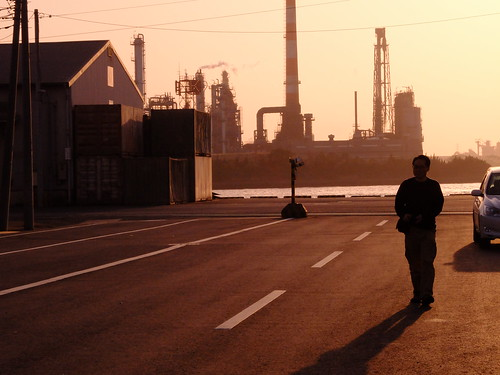 Kawasaki Factory Sunset Scene 07