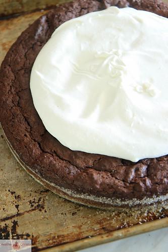 Dark Chocolate Coconut Fallen Cake