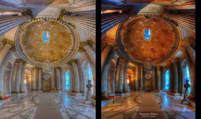 Before and After Sansoucci, Potsdam, Germany
