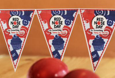 Red nose day bunting IMG_6825 R