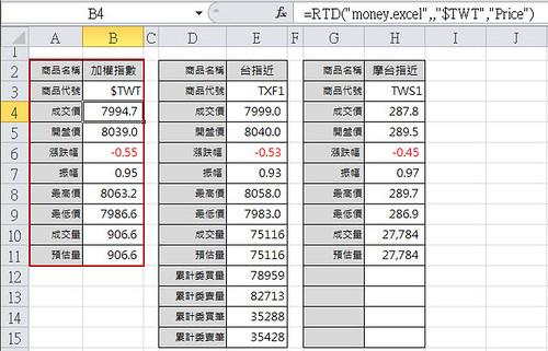 Excel 儲存格