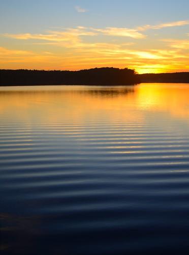 sunset lake water nikond7000