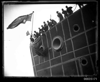 The launch of HMAS ALBATROSS I at Cockatoo Island Dockyard