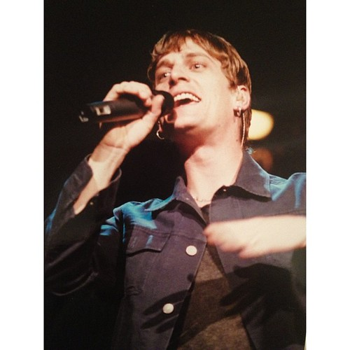 #tbt #matchboxtwenty #mb20 #robthomas -- photo I took of Rob Thomas on 4/22/01 on tour when I did concert photography in college!